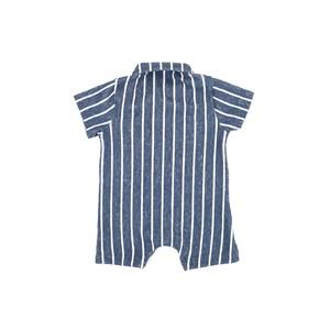 Macacão Infantil / Baby Em Malhão Atoalhado Com Listras - Beaba Azul