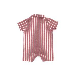 Macacão Infantil / Baby Em Malhão Atoalhado Com Listras - Beaba Vermelho
