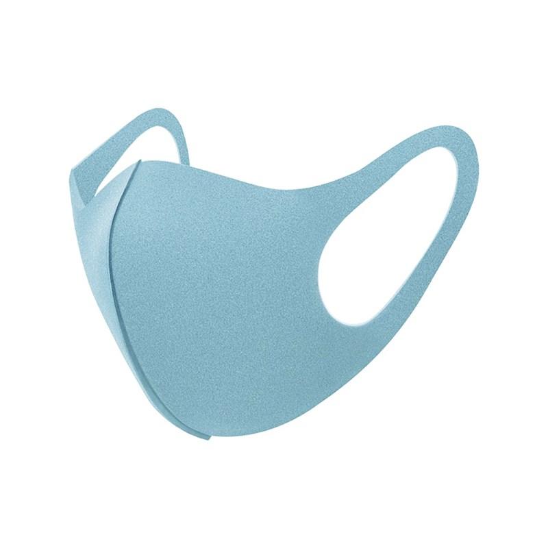 Máscara De Proteção Em Tecido Neoprene Modelo Adulto Feminino - Cores Lisas - Um Mais Um Azul