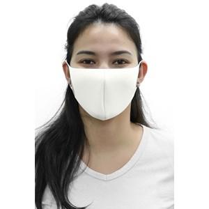 Máscara De Proteção Em Tecido Neoprene Modelo Adulto Feminino - Cores Lisas - Um Mais Um Cru