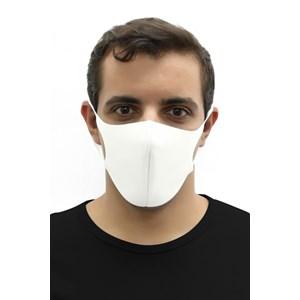 Máscara De Proteção Em Tecido Neoprene Modelo Adulto Masculino - Cores Lisas - Um Mais Um Cru