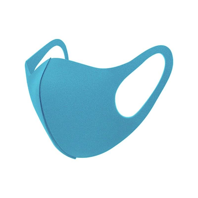Máscara De Proteção Em Tecido Neoprene Modelo Infantil - Cores Lisas - Um Mais Um Azul