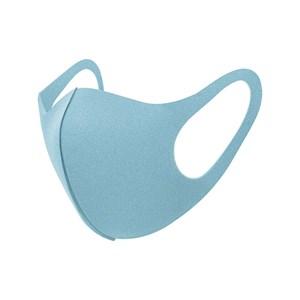 Máscara De Proteção Em Tecido Neoprene Modelo Infantil - Cores Lisas - Um Mais Um Azul Claro