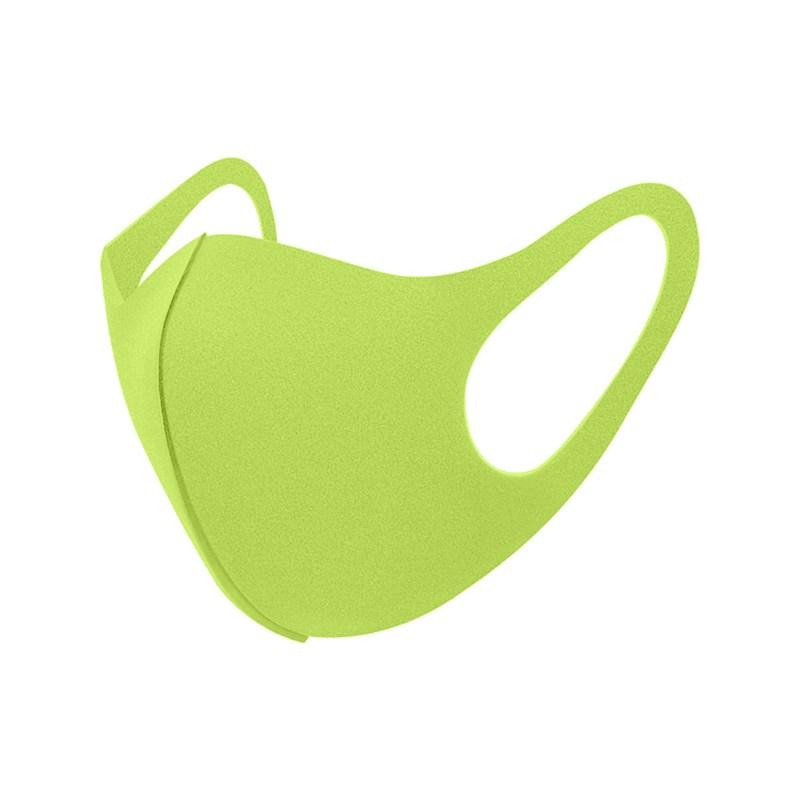 Máscara De Proteção Em Tecido Neoprene Modelo Infantil - Cores Lisas - Um Mais Um Verde Fluor