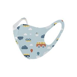 Máscara De Proteção Em Tecido Neoprene Modelo Infantil - Estampas Variadas - Um Mais Um Azul Claro