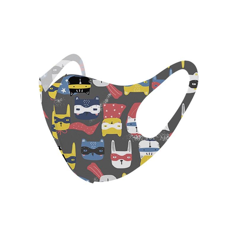 Máscara De Proteção Em Tecido Neoprene Modelo Infantil - Estampas Variadas - Um Mais Um Chumbo