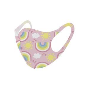 Máscara De Proteção Em Tecido Neoprene Modelo Infantil - Estampas Variadas - Um Mais Um Rosa Bb