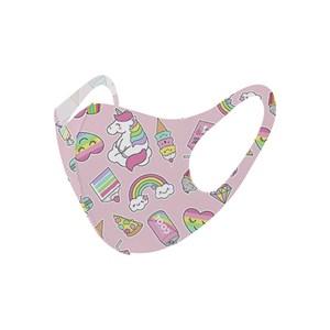 Máscara De Proteção Em Tecido Neoprene Modelo Infantil - Estampas Variadas - Um Mais Um Rosa Claro
