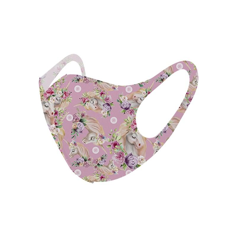 Máscara De Proteção Em Tecido Neoprene Modelo Infantil - Estampas Variadas - Um Mais Um Rose