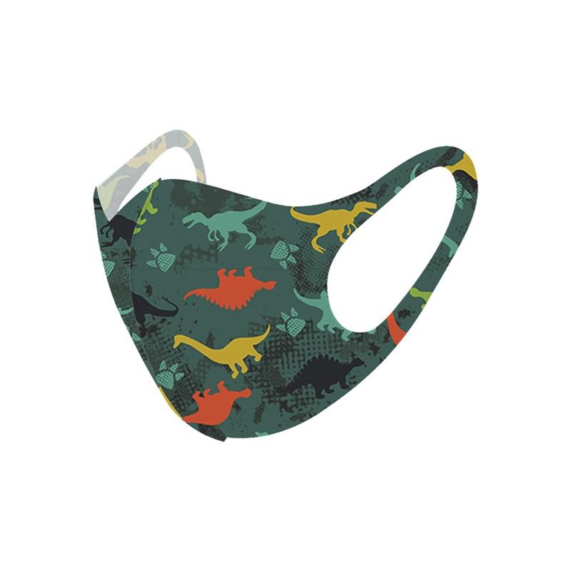 Máscara De Proteção Em Tecido Neoprene Modelo Infantil - Estampas Variadas - Um Mais Um Verde