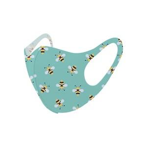 Máscara De Proteção Em Tecido Neoprene Modelo Infantil - Estampas Variadas - Um Mais Um Verde Agua