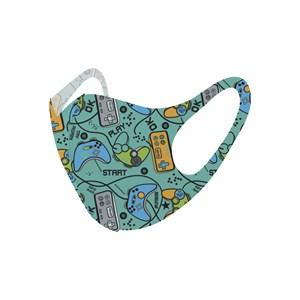 Máscara De Proteção Em Tecido Neoprene Modelo Infantil - Estampas Variadas - Um Mais Um Verde Piscin