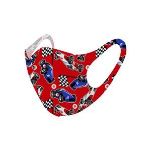 Máscara De Proteção Em Tecido Neoprene Modelo Infantil - Estampas Variadas - Um Mais Um Vermelho