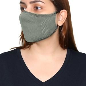 Máscara De Proteção Em Tritôt Com Filtro Duplo De Tnt Modelo Feminino Adulto - Um Mais Um Cinza Claro