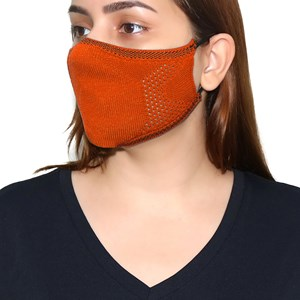Máscara De Proteção Em Tritôt Com Filtro Duplo De Tnt Modelo Feminino Adulto - Um Mais Um Laranja Escuro