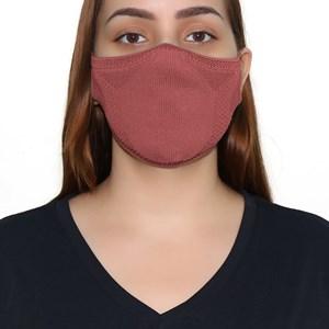 Máscara De Proteção Em Tritôt Com Filtro Duplo De Tnt Modelo Feminino Adulto - Um Mais Um Rosa Velho