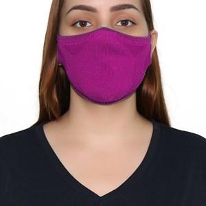 Máscara De Proteção Em Tritôt Com Filtro Duplo De Tnt Modelo Feminino Adulto - Um Mais Um Violeta