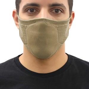 Máscara De Proteção Em Tritôt Com Filtro Duplo De Tnt Modelo Masculino Adulto - Um Mais Um Bege Escuro
