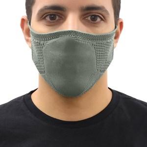 Máscara De Proteção Em Tritôt Com Filtro Duplo De Tnt Modelo Masculino Adulto - Um Mais Um Cinza Claro