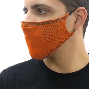 Máscara De Proteção Em Tritôt Com Filtro Duplo De Tnt Modelo Masculino Adulto - Um Mais Um Laranja Escuro