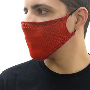 Máscara De Proteção Em Tritôt Com Filtro Duplo De Tnt Modelo Masculino Adulto - Um Mais Um Laranja N