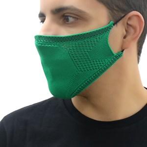 Máscara De Proteção Em Tritôt Com Filtro Duplo De Tnt Modelo Masculino Adulto - Um Mais Um Verde
