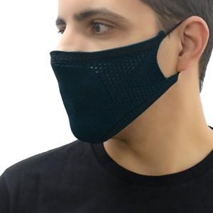 Máscara De Proteção Em Tritôt De Poliamida Com Filtro Duplo De Tnt Modelo Masculino Adulto Marinho