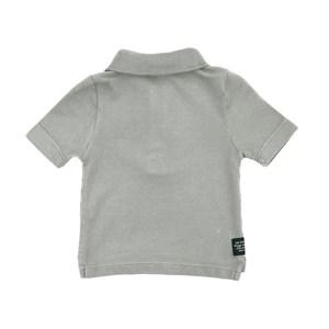Polo Infantil / Baby Em Piquet Com Bordado De Cahorrinho - Um Mais Um Cinza Claro
