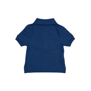 Polo Infantil / Baby Em Piquet Com Patch De Cahorrinho - Um Mais Um Marinho