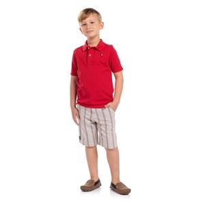Polo Infantil Masculina Vermelho