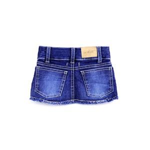 Saia Infantil Em Jeans Com Lycra E Rebites De Pérola – 1+1 Única