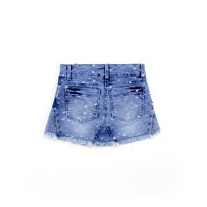 Saia Infantil / Teen Em Jeans Com Lycra - Twoin Única