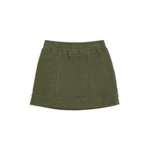 Saia Infantil / Teen Em Malha Lã Com Lycra Com Detalhe Em Cadarço - Two In Verde