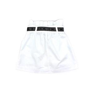 Saia Infantil / Teen Em Tela Com Detalhe Em Cadarço - Two In Branco
