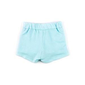 Saia / Short Infantil Moletom Sem Felpa - 1+1 Verde Agua