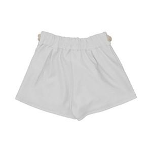Short infantil feminino reto com cinto de cordao CRU