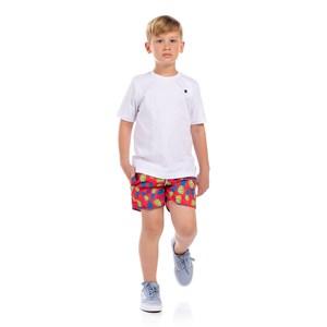 Short Infantil Masculino Estampa Verão Vermelho