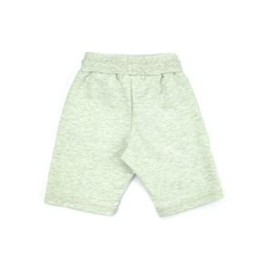 Short Infantil / Teen Em  Moletom Sem Felpa Dupla Face C/Deltalhes - Two Verde Fluor