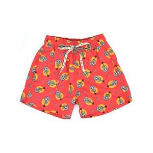 Short Infantil / Teen Em Nylon Estampado- Two Vermelho