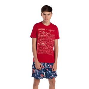 Short Masculino Em Nylon Estampado Marinho