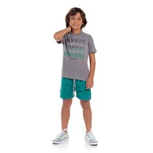 Short Masculino Estampa Revela Na Água Verde