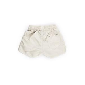 Short Masculino Infantil / Kids Em Nylon Tactel - Um Mais Um Bege Claro