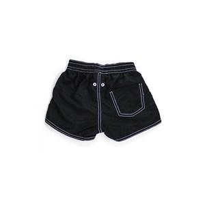 Short Masculino Infantil / Kids Em Nylon Tactel - Um Mais Um Preto
