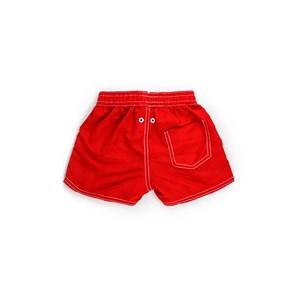 Short Masculino Infantil / Kids Em Nylon Tactel - Um Mais Um Vermelho