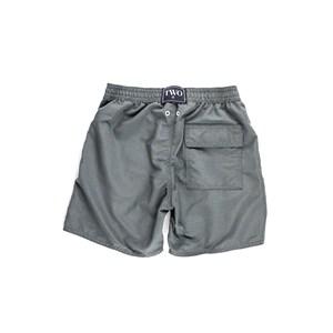Short Masculino Infantil / Teen Em Nylon Tactel - Twoin Chumbo