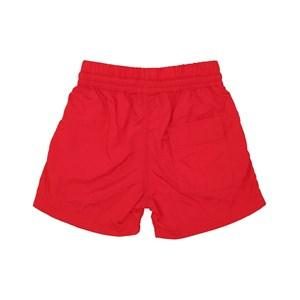 Short Nylon Com Elástico Liso Vermelho