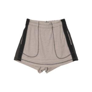 Short saia em moletinho com recortes laterais tres cores CRU