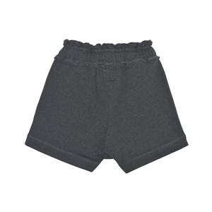 Short-Saia  Feminino Infantil / Teen Em Moletom C/Lycra S/Felpa C/Cadarço Nas Laterais  - Two In Chumbo