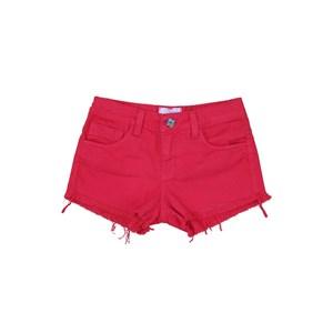 Short Sarja Barra Desfiada Pink