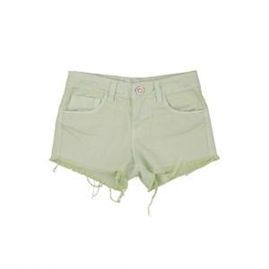 Short Sarja Barra Desfiada Verde